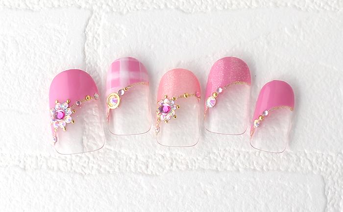 春らしいピンクとスワロでHAPPYな気分になるように♪