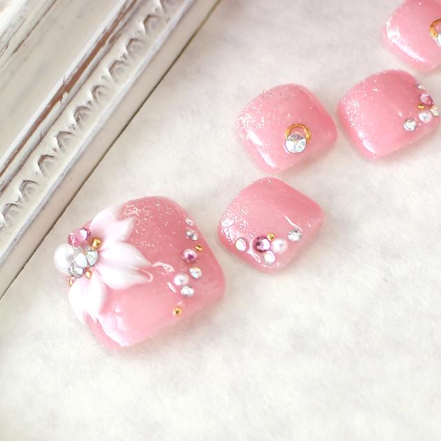 春らしい色合いにポイントで桜の3Dアート