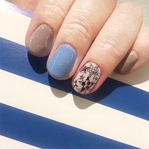STAMP NAIL Designed モノトーンスター¥3,240