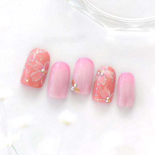 ピンク系でまとめて春らしく華やかに