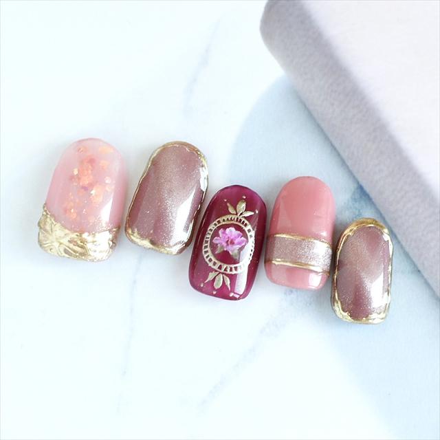 ピンクとゴールドをたくさん使いました!!